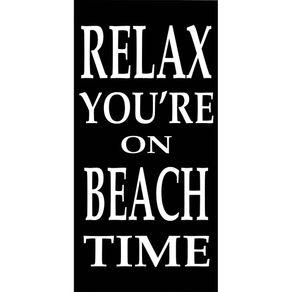 Toalha-de-Praia-Aveludada-76x152cm-Karsten-Relax-Preta-