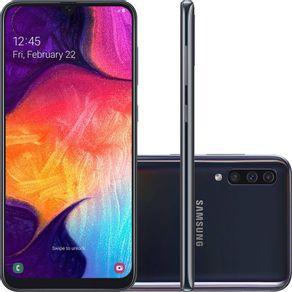 Smartphone-Samsung-Galaxy-A50-A505G-64GB-Dual-Chip-Tela-6.4-4G-Wi-Fi-Camera-Tripla-25MP-8MP-5MP-Preto