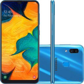 Smartphone-Samsung-Galaxy-A30-A305G-64GB-Dual-Chip-Tela-6.4-4G-Wi-Fi-Camera-Dupla-16MP-5MP-Azul