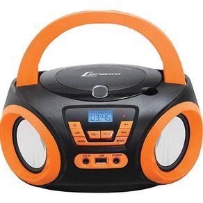 Radio-com-CD-Lenoxx-BD-121-PL-com-Entrada-USB-Preto-e-Laranja