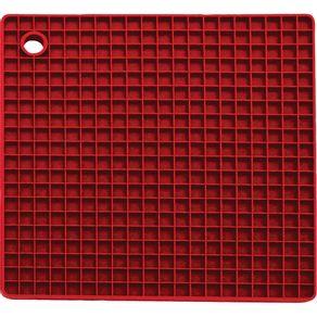 Descanso-de-Panela-Quadrado-de--Silicone-Vermelho-YPN06-Yangzi.