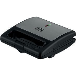 Sanduicheira-Eletrica-Black---Decker-SM750-com-Chapa-Antiaderente-Preta-e-Prata-127V