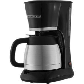 Cafeteira-Eletrica-20-Xicaras-Black---Decker-CM200I-com-Jarra-Inox-Termica-Preta-e-Prata-127V