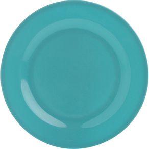 Prato-de-Melamina-Raso-25cm-Azul