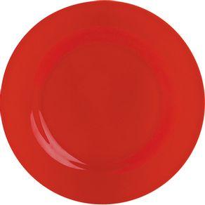 Prato-de-Melamina-Raso-20cm-Vermelho