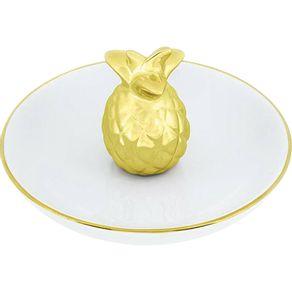 Porta-Bijuteria-Abacaxi-Decorativo-Ceramica-6.5cm-Mart-Dourado