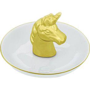 Porta-Bijuteria-Ceramica-75cm-Mart-Unicornio-Dourado