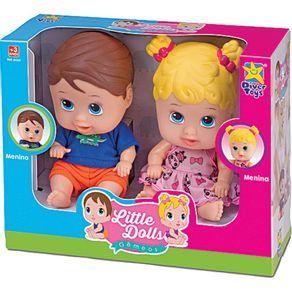 Boneca-Little-Dolls-Divertoys-Gemeos-8037-