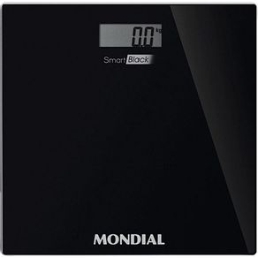 Balanca-Digital-de-Banheiro-Mondial-Smart-Black-150kg-Vidro-Preta