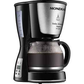 Cafeteira-Eletrica-32-Xicaras-Mondial-Dolce-Arome-C-31-Digital-Preta-e-Prata-220V