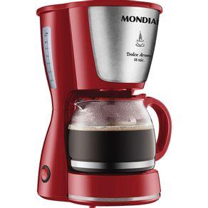 Cafeteira-Eletrica-18-Xicaras-Mondial-Dolce-Arome-C-35-Vermelha-e-Prata-127V