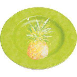 Prato-de-Melamina-Sobremesa-20cm-Abacaxi-Verde-1569147
