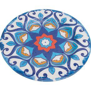 Prato-de-Melamina-Sobremesa-22cm-Mandala-Azul-1569155
