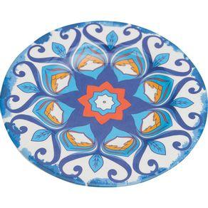 Prato-de-Melamina-Raso-28cm-Mandala-Azul-1569198