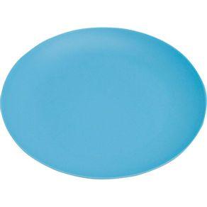 Prato-de-Melamina-Sobremesa-20cm-Azul-Fosco-1569252
