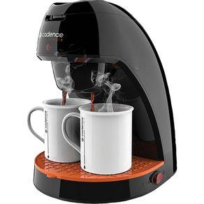 Cafeteira-Eletrica-Cadence-2-Xicaras-Single-Contrast-CAF218-Preto-com-Laranja-220V-1642685