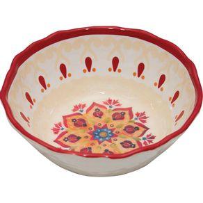 Tigela-Melamina-16-4cm-Mandala-Vermelho-1569406