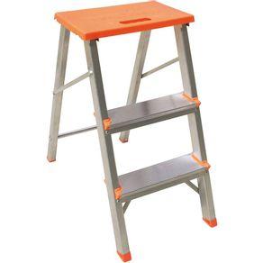 Banqueta-Escada-3-Degraus-Aluminio-Botafogo-Lar---Lazer-Laranja