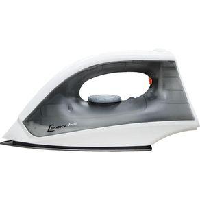 Ferro-a-Seco-Lenoxx-Pratic-PFF-601-com-Base-em-Aluminio-Polido-Preto-e-Branco-127V-1661493