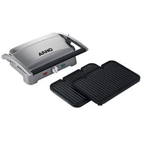 Grill-Eletrico-Arno-Premium-GPRE-com-Coletor-de-Gordura-e-Placas-Destacaveis-Prata-220V-1654624f
