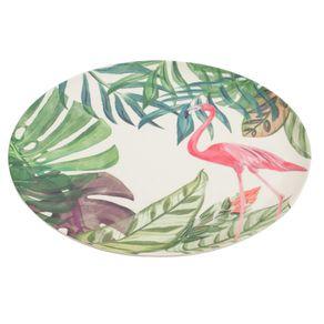 Prato-Raso-Fibra-de-Bambu-25cm-Anji-Folhas-Flamingo-CV181804-1614703