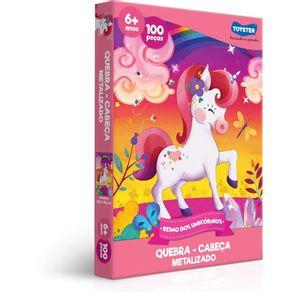 Quebra-cabeca-100-Pecas-Reino-dos-Unicornios-2573-Toyster-1666908