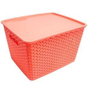 Caixa-Organizadora-19L-com-tampa-CV191955-Ogza-Coral-1635301