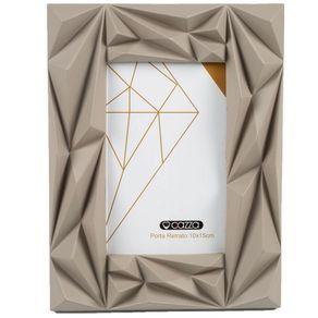 Porta-Retrato-Plastico-10X15-CV192158-Cazza-Diamond-Cinza-1665324