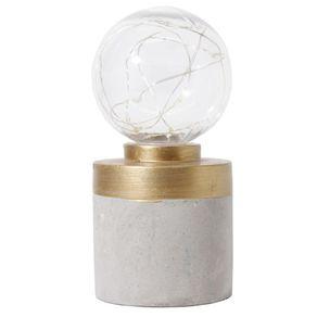 Luz-LED-amarela-base-de-cimento-cilindro-com-tira-dourada-Marca-Cazza-CV181871-1616625