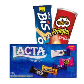 Kit-caixa-de-bombom-Lacta---Caixa-de-bombom-Bis-Oreo---Batata-Pringles-Original