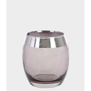 Vaso-Decorativo-de-Vidro-Grillo-Decor-44637-Preto-com-Prata