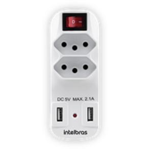 Protetor-Eletronico-2-Tomadas-e-2-USB-Intelbras-EAC1002-Branco