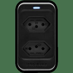Protetor-Eletronico-2-Tomadas-Intelbras-EPS302-Preto