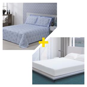 Kit-Nathalia-Casal-5-Pecas-Microfibra-Eliz-Azul-com-Protetor-de-Colchao-Casal-Impermeavel