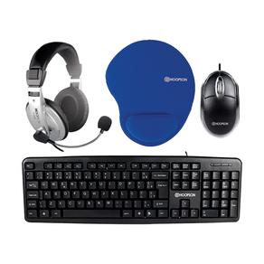 Kit-Headset-Teclado-Mouse-e-Mousepad-Hoopson-Office