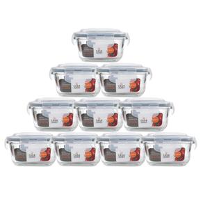 Conjunto-10-Potes-de-Vidro-Quadrado-320ml-Casa-do-Chef