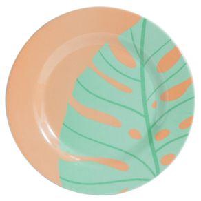 Prato-de-Melamina-Sobremesa-Adao-20x1-3cm-CV202390-Rosa-e-Verde-1685511a