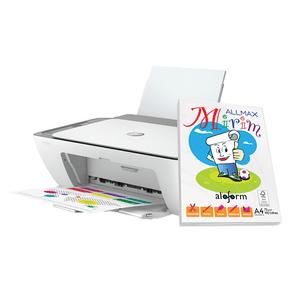 Kit-Multifuncional-Jato-de-Tinta-WiFi-HP-Deskjet-2776-com-Papel-Oficio-A4-100-Folhas