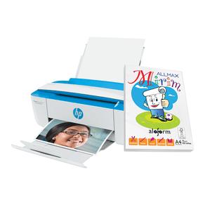 Kit-Multifuncional-Jato-de-Tinta-Wi-Fi-HP-DeskJet-3776-com-Papel-Oficio-A4-100-Folhas