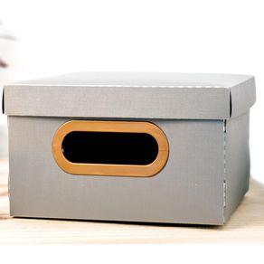Caixa-Organizadora-Quadrada-Dello-Linho-2203G-Cinza-PP-1690418