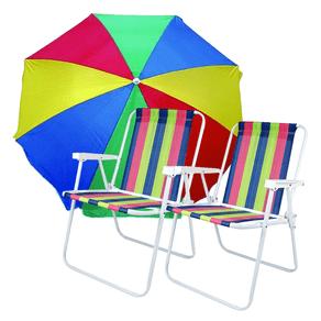 Kit-2-Cadeiras-de-Praia-Alta-com-Guarda-sol-160cm-Mor-Sortido