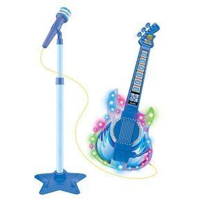 Guitarra-Com-Microfone-Infantil-Rock-Show-Azul-DMT5894-DM-Toys-1698460
