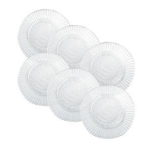 Kit-6-Pratos-de-Vidro-Sobremesa-19cm-Duralex-Primavera