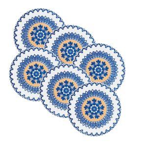 Kit-6-Pratos-de-Ceramica-Sobremesa-20cm-Floreal-Oxford-La-Carreta