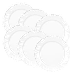 Kit-6-Pratos-de-Vidro-Raso-25cm-Duralex-Petala-Opaline