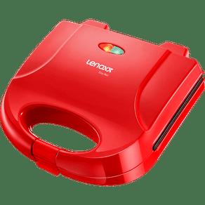 Sanduicheira-Grill-Eletrica-Lenoxx-Easy-PSD119-Vermelha-127V